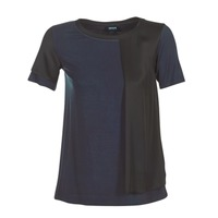 textil Mujer camisetas manga corta Armani jeans DRANIZ Marino / Negro