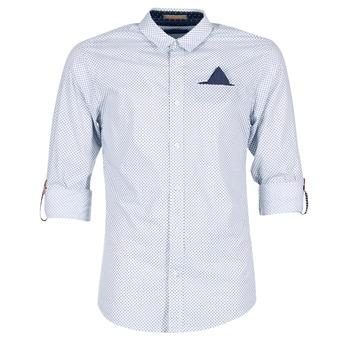 textil Hombre camisas manga larga Scotch & Soda DARLU Blanco / Azul