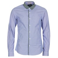 textil Hombre camisas manga larga Scotch & Soda JILLA Azul