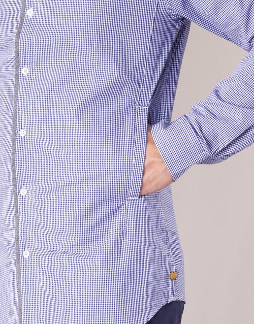 Textil Jilla Soda Azul Hombre Manga Camisas Scotchamp; Larga trdsQxCh