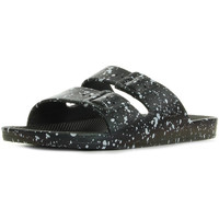 Zapatos Zuecos (Mules) Moses Freedom Slippers Black Splatter Negro