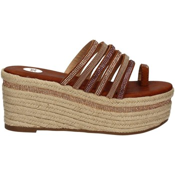 Zapatos Mujer Zuecos (Mules) Exe' By Tsakiris Mallas E47001647418 Wedge sandals Mujeres Brown Brown