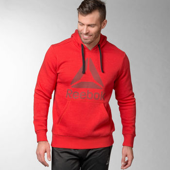 textil Hombre sudaderas Reebok Sport Sudadera Workout Ready Big Logo Cotton Poly Negro