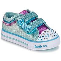 Zapatos Niña Zapatillas bajas Skechers Shuffles Blanco / Azul
