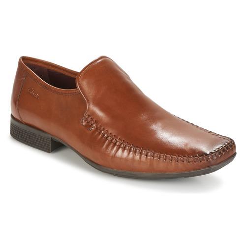Zapatos Hombre Mocasín Clarks Ferro Step Tan / Leather