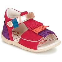 Zapatos Niña Sandalias Kickers BIHILANA Fucsia / Naranja / Violeta