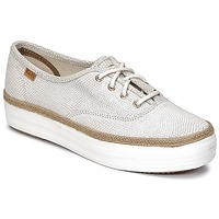 Zapatos Mujer Zapatillas bajas Keds TRIPLE DALMATA DOT LEATHER Cream