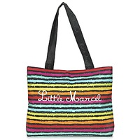 Bolsos Mujer Bolso shopping Little Marcel MIRAGE Negro / Multicolor