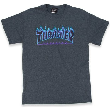 textil camisetas manga corta Thrasher Camiseta  Flame Logo Dark Heather multicolor