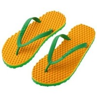 Zapatos Mujer Chanclas Souls Chanclas  Thongs Original Green & Gold multicolor