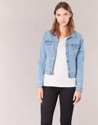textil Mujer chaquetas denim Yurban HELEFI Azul / Claro