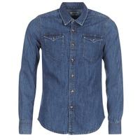 textil Hombre camisas manga larga Yurban IHERZI Azul / Medium