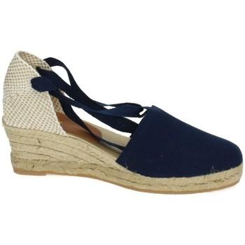 Zapatos Mujer Alpargatas Torres Valencianas de lona Azul