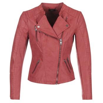 textil Mujer Chaquetas de cuero / Polipiel Only AVA Rojo