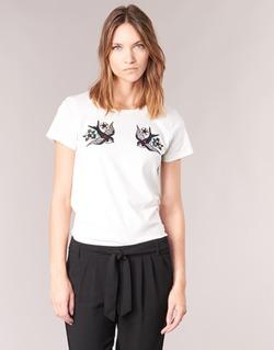 textil Mujer camisetas manga corta Only KIRA Blanco