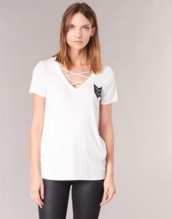 textil Mujer camisetas manga corta Only MILI Blanco