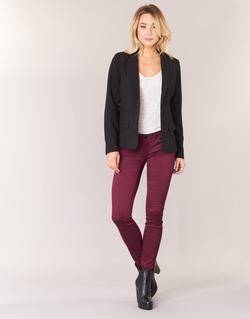 textil Mujer pantalones con 5 bolsillos Only LUCIA Burdeo