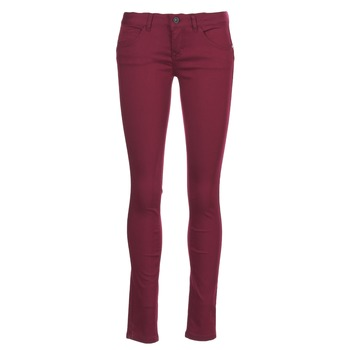 textil Mujer pantalones con 5 bolsillos Only LUCIA Burdeo