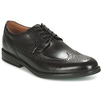 Zapatos Hombre Derbie Clarks Black Leather Negro