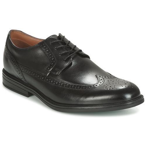 Zapatos especiales para hombres y mujeres Clarks BLACK LEATHER Negro