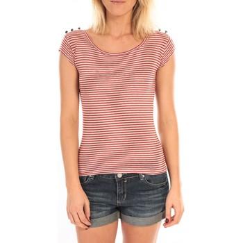 textil Mujer Camisetas manga corta LuluCastagnette T-Shirt Jeny Rayé Rouge Rojo