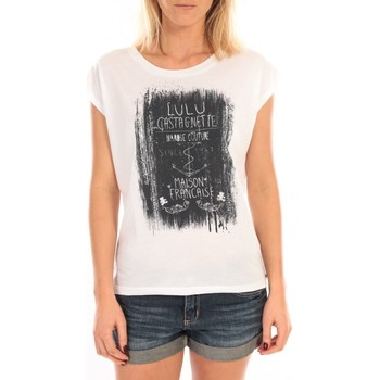 textil Mujer Tops / Blusas LuluCastagnette Top Luna Print Blanc Blanco
