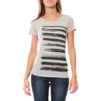 textil Mujer camisetas manga corta LuluCastagnette Tee shirt Pali Gris Gris