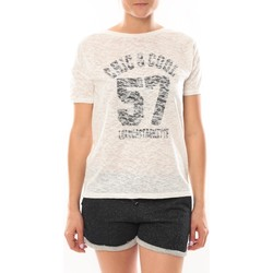 textil Mujer camisetas manga corta LuluCastagnette T-shirt Cool Blanc Blanco