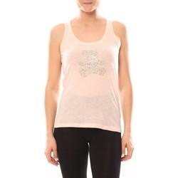 textil Mujer Tops / Blusas LuluCastagnette Débardeur Transfert Ours Poudre Rosa