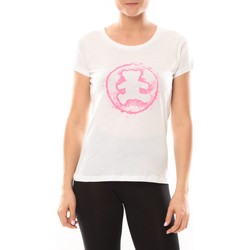 textil Mujer camisetas manga corta LuluCastagnette T-shirt Happy Blanc Blanco