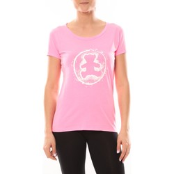 textil Mujer camisetas manga corta LuluCastagnette T-shirt Happy Rose Rosa
