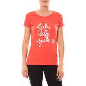 textil Mujer Camisetas manga corta LuluCastagnette T-shirt Muse Rouge Rojo