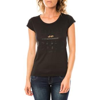 textil Mujer Camisetas manga corta LuluCastagnette T-shirt Chicos Noir Negro