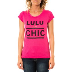 textil Mujer Camisetas manga corta LuluCastagnette T-shirt Chicos Rose Rosa