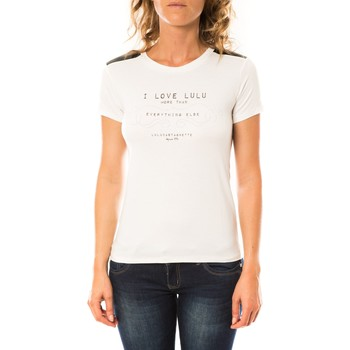 textil Mujer Camisetas manga corta LuluCastagnette T-shirt Funk Blanc Blanco