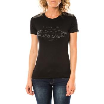 textil Mujer Camisetas manga corta LuluCastagnette T-shirt Funk Noir Negro