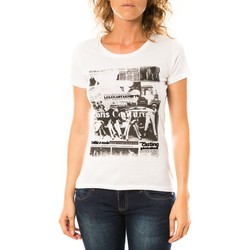 textil Mujer Camisetas manga corta LuluCastagnette T-shirt Mag Blanc Blanco