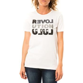 textil Mujer Camisetas manga corta LuluCastagnette T-shirt Sequy Blanc Blanco