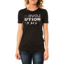 textil Mujer camisetas manga corta LuluCastagnette T-shirt Sequy Noir Negro