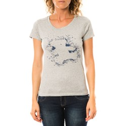 textil Mujer Camisetas manga corta LuluCastagnette T-shirt Troupe Gris Gris
