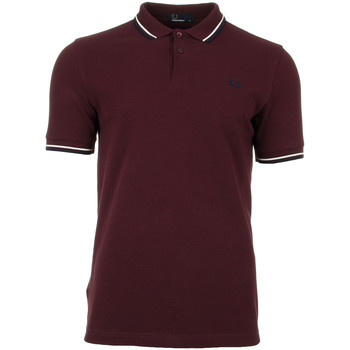 textil Hombre polos manga corta Fred Perry Twin Tipped  Shirt Rojo