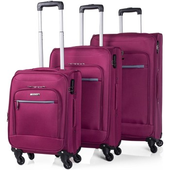 Bolsos Maleta flexible Itaca SET 3 TROLLEYS EVA/POLIESTER Fucsia