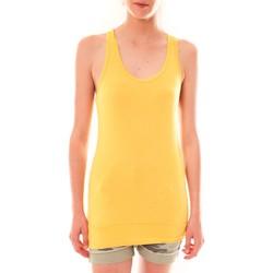 textil Mujer Camisetas sin mangas Sweet Company Debardeur 107672  Jaune Amarillo