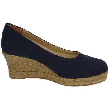 Zapatos Mujer Alpargatas Torres Zapatos cuÑa esparto Azul