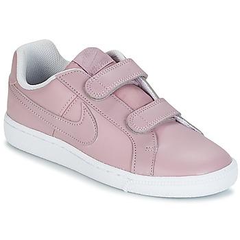 Zapatos Niña Zapatillas bajas Nike COURT ROYALE CADET Rosa