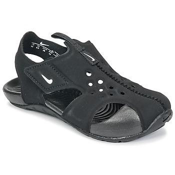 Zapatos Niños Sandalias Nike SUNRAY PROTECT 2 TODDLER Negro / Blanco