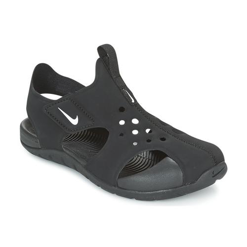 Zapatos Niños Sandalias Nike SUNRAY PROTECT 2 CADET Negro / Blanco