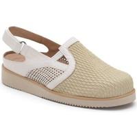 Zapatos Mujer Zuecos (Clogs) Calzamedi VERANO PALA ELASTICA BEIGE