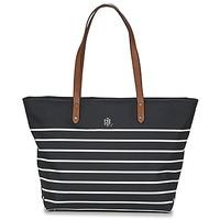 Bolsos Mujer Bolso shopping Ralph Lauren BAINBRIDGE TOTE Negro / Blanco