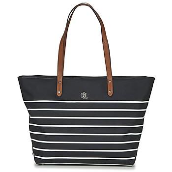 Bolsos Mujer Bolso shopping Lauren Ralph Lauren BAINBRIDGE TOTE Negro / Blanco